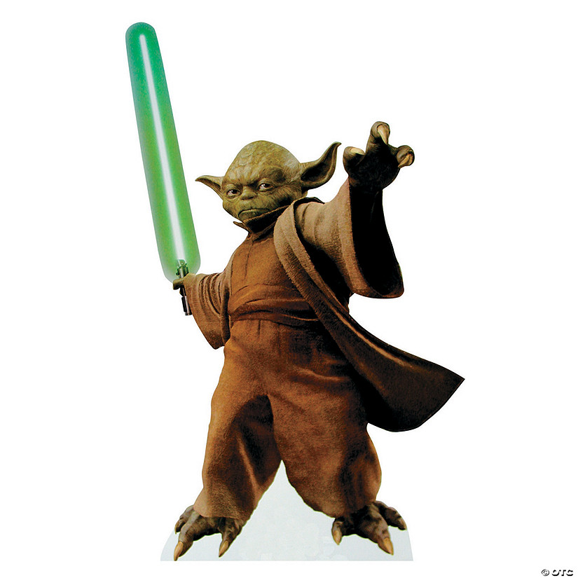 Yoda With Lightsaber Cardboard Stand-Up