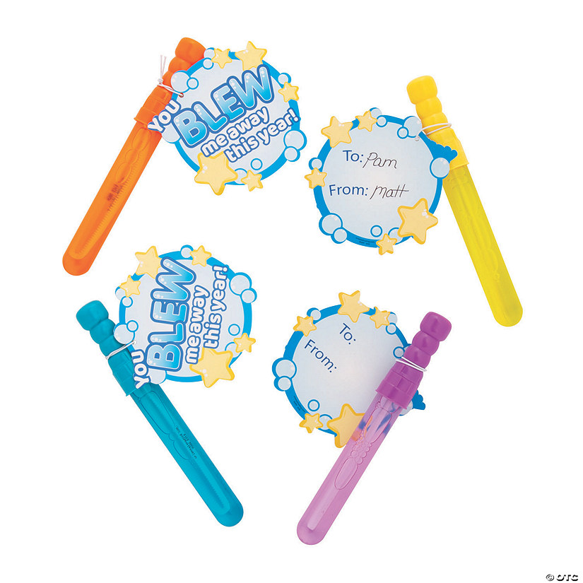 You Blew Me Away This Year Bubble Wand Kit - 12 Pc. Image Thumbnail