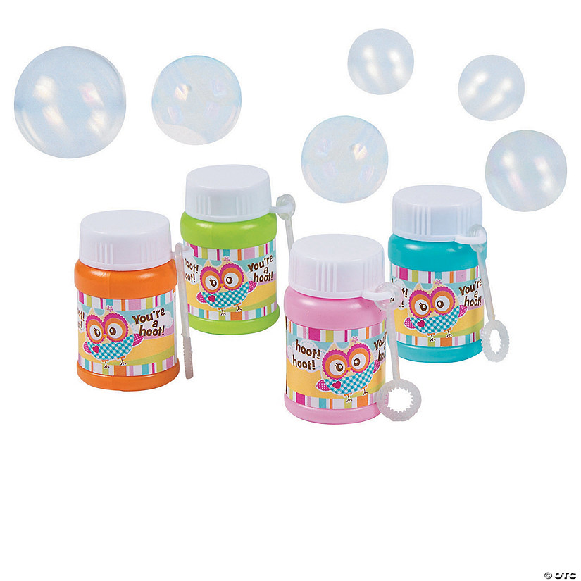 """You're A Hoot"" Mini Bubble Bottles"