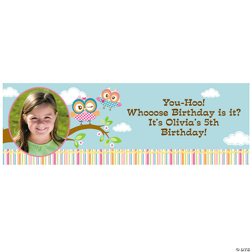 You're A Hoot Owl Custom Photo Banner
