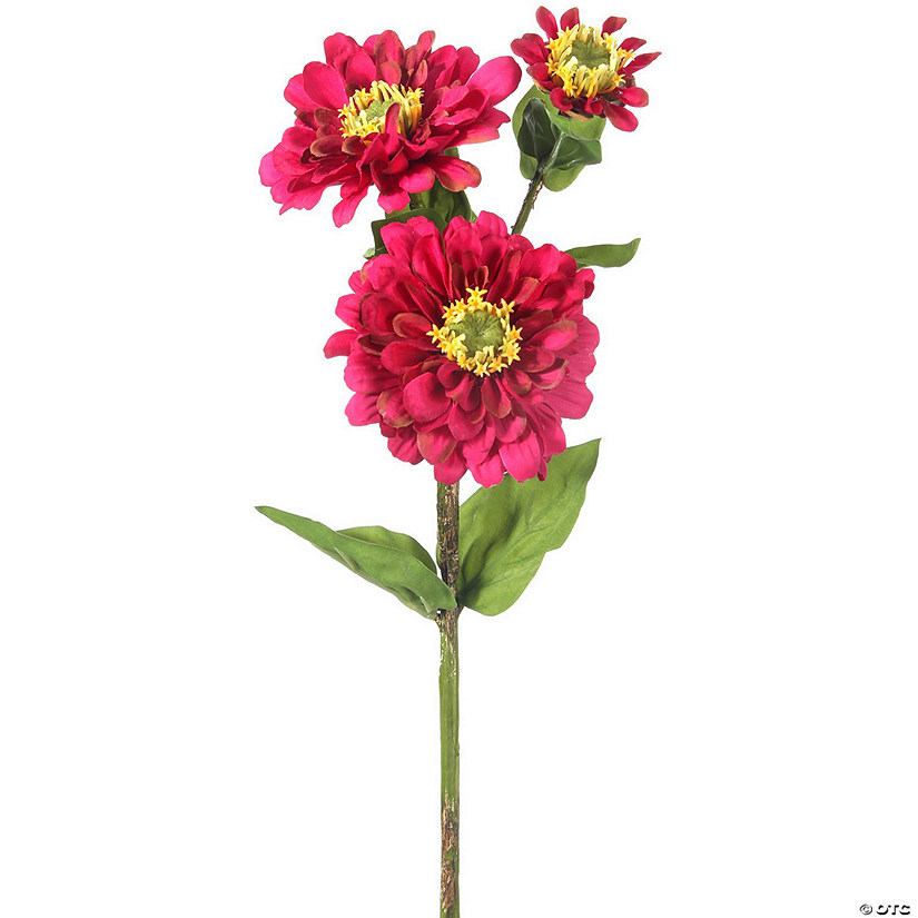 "Zinnia Spray X3 24""-Magenta"