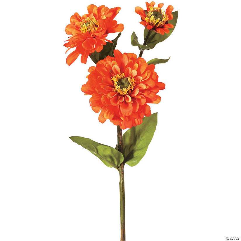 "Zinnia Spray X3 24""-Orange"