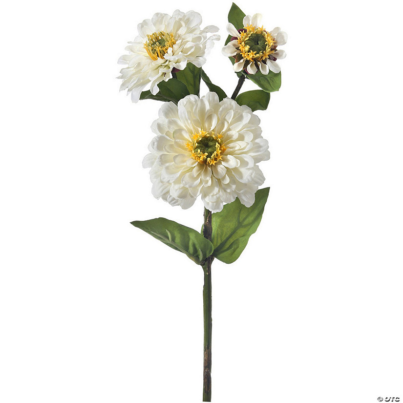 "Zinnia Spray X3 24""-White"