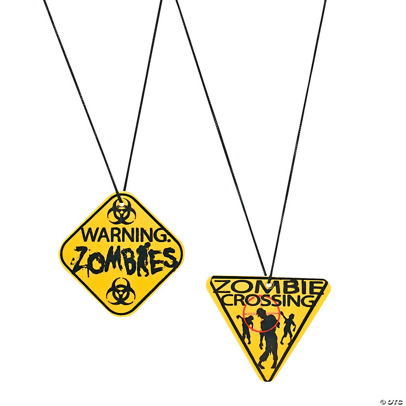 Zombie Warning Sign Necklaces Audio Thumbnail