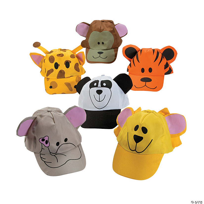 Zoo Animal Baseball Caps Assortment Image Thumbnail