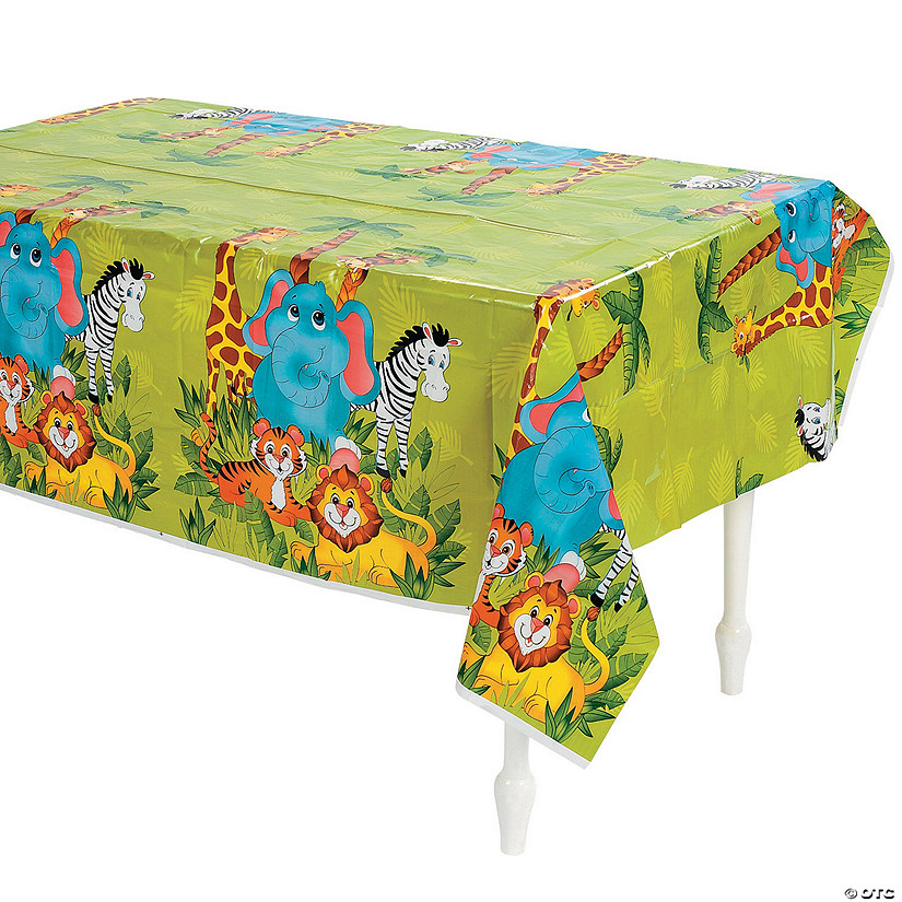 Zoo Animal Plastic Tablecloth