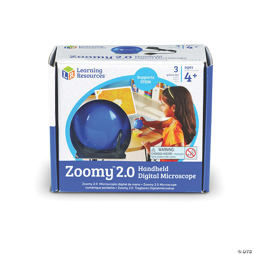 Zoomy™ 2.0 Blue Handheld Digital Microscope Image Thumbnail