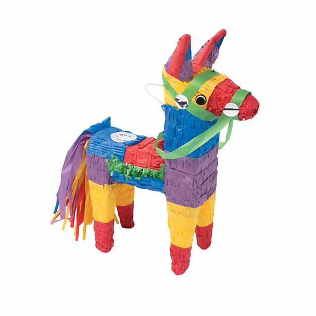 picture about Donkey Pinata Template Printable referred to as Do it yourself Mini Donkey Pinata - Do-it-yourself Digital Fretboard