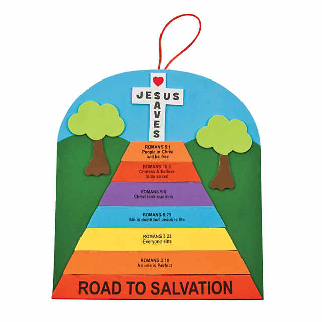 picture relating to Romans Road to Salvation Printable called Romans Street Indicator Craft Package