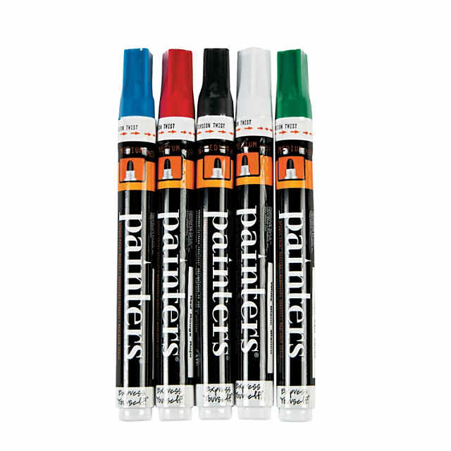 5 Color Bright Elmer S Painters Medium Opaque Paint Markers