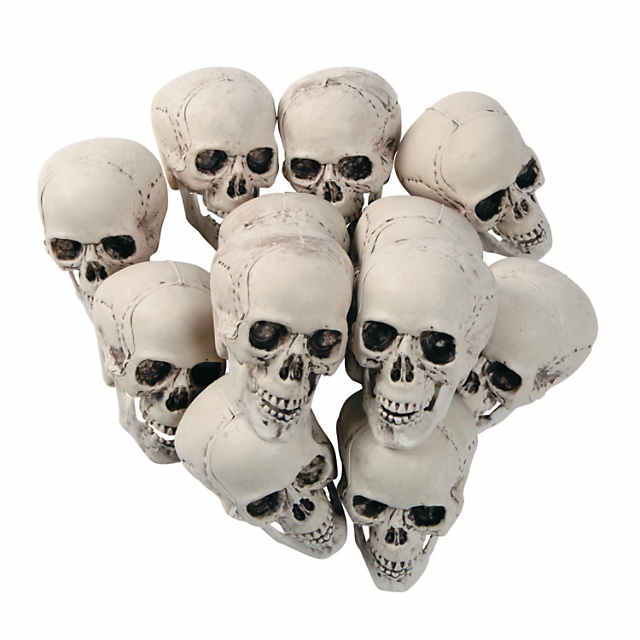 Bag of Skulls Halloween Decorations