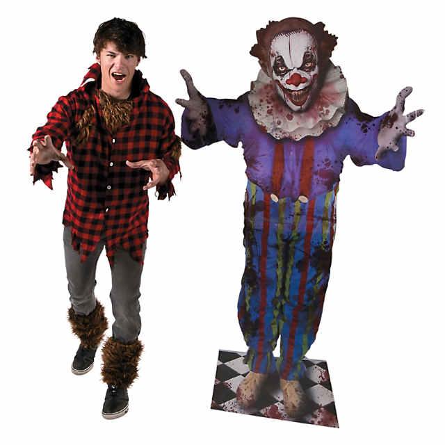 Creepy Clown Halloween Decorations.Big Top Terror Scary Clown Halloween Cardboard Stand Up
