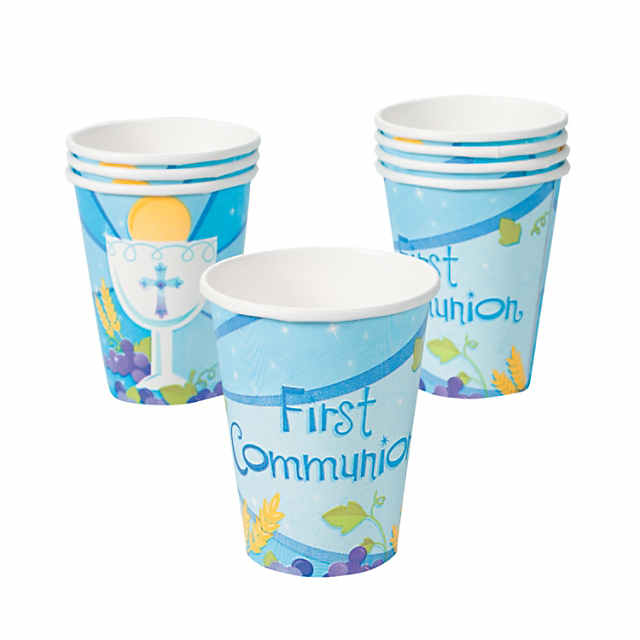"""Blue """"First Communion"""" Cups - Discontinued"""