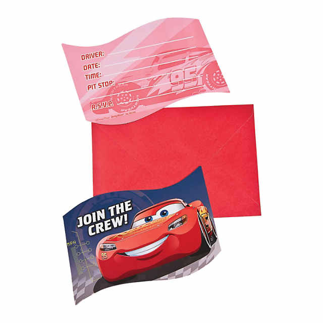 Cars 3 Postcard Invitations