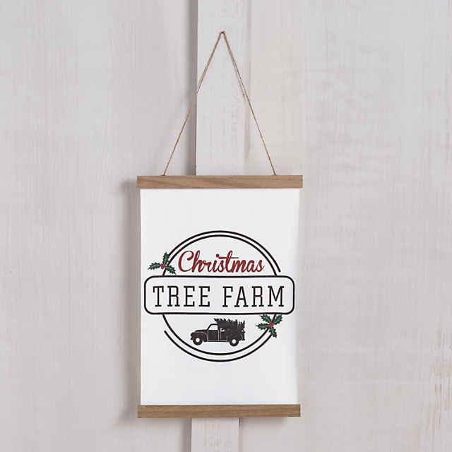Christmas Tree Farm Canvas Sign