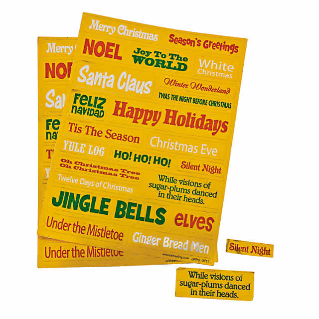 Christmas Word Stickers Discontinued