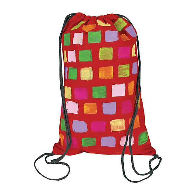 Diy Medium Colorful Canvas Drawstring Bags