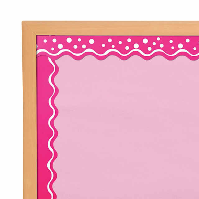 Double-Sided Bulletin Board Borders Scalloped Edge Happy Hot Pink ...