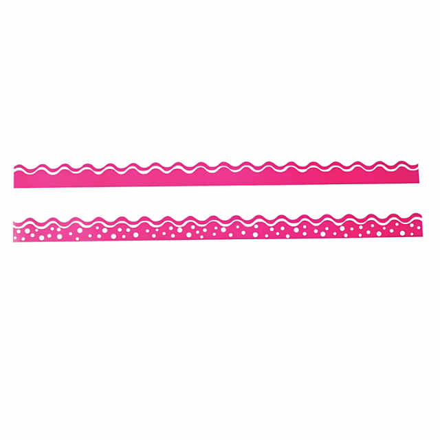 Double-Sided Bulletin Board Borders Scalloped Edge Happy Hot ...