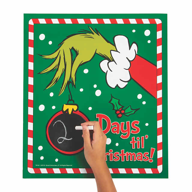 Christmas Count Down.Dr Seuss The Grinch Christmas Countdown Chalkboard Sign
