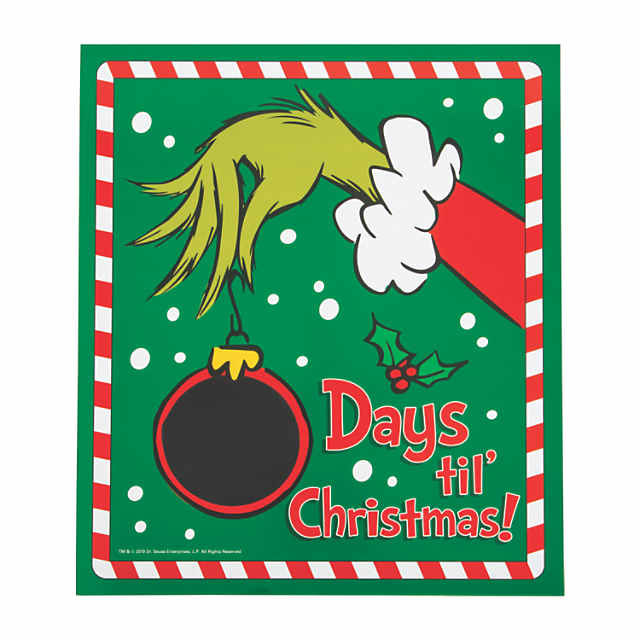 The Grinch Christmas.Dr Seuss The Grinch Christmas Countdown Chalkboard Sign