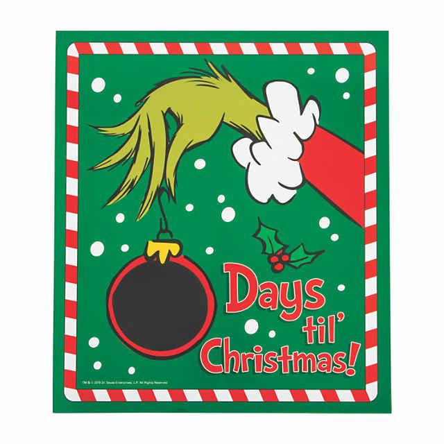 Christmas Countdown.Dr Seuss The Grinch Christmas Countdown Chalkboard Sign