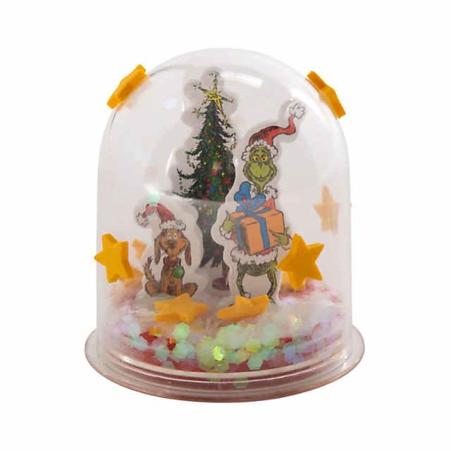 Christmas Snowglobes.Dr Seuss The Grinch Christmas Snow Globe Craft Kit