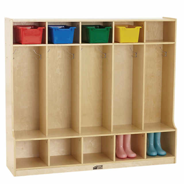 Cool Ecr4Kids 5 Section Locker With Bench And Storage Shelves Home Interior And Landscaping Ologienasavecom