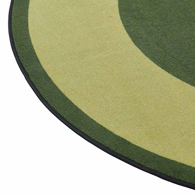 Round Green Area Rugs.Ecr4kids Two Tone Circle Area Rug 6 Foot Round Green