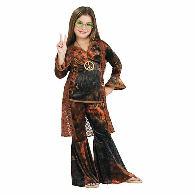 Hippie Girl Halloween Costume.Girl S Woodstock Diva Hippie Costume