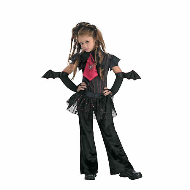girls bat chick costume large