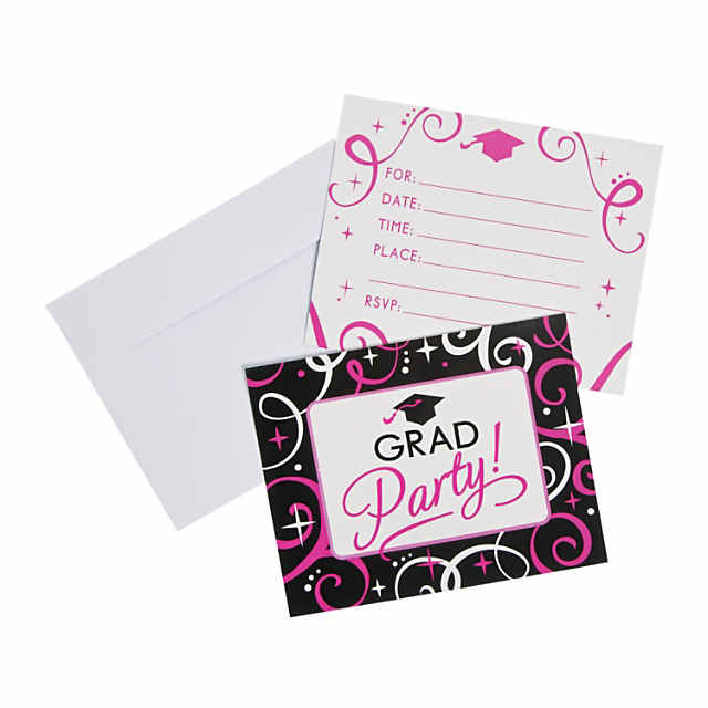 Gold Confetti Graduation Invitations
