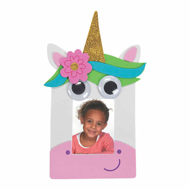 Googly Eyes Unicorn Picture Frame Magnet Craft Kit