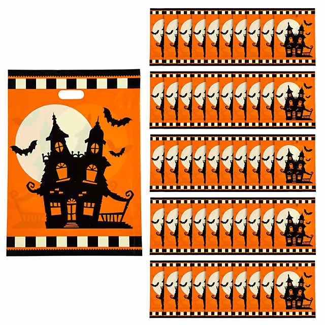 Halloween Trick Or Treat Silhouette.Halloween Silhouette Trick Or Treat Goody Bags