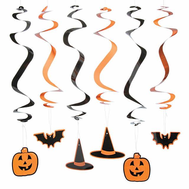Hanging Swirl Halloween Decorations