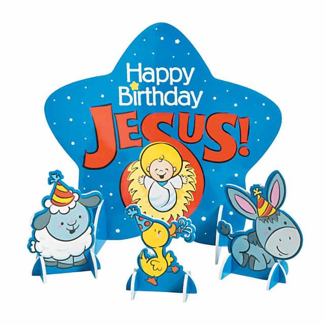 Happy Birthday Jesus Centerpiece Set