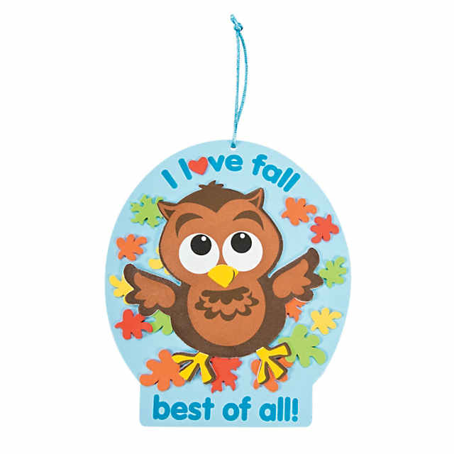 I Love Fall Owl Sign Craft Kit Discontinued