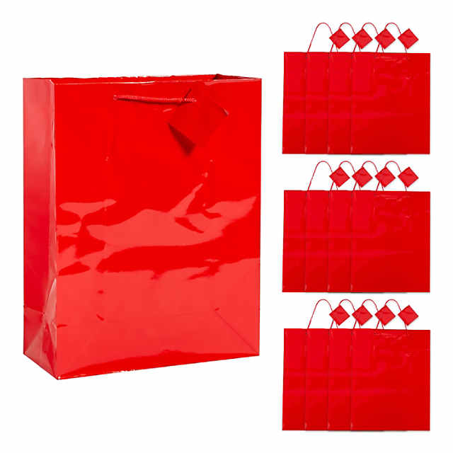 Large Red Gift Bags With Tags