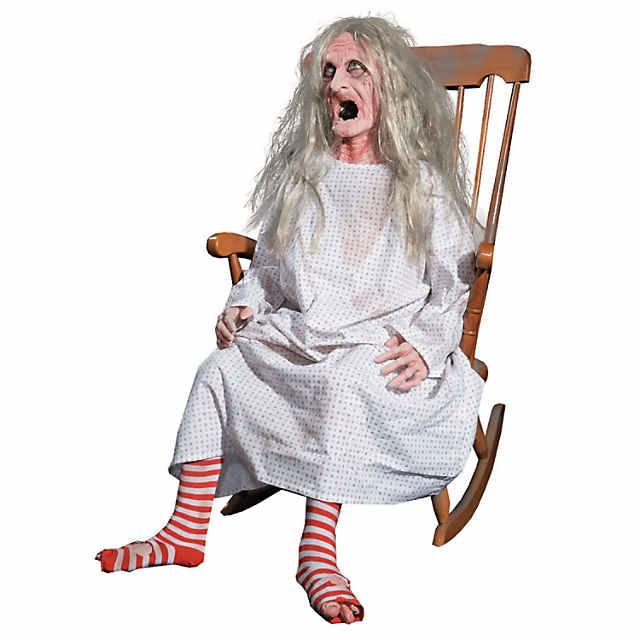 Terrific Life Size Animated Rocking Granny Halloween Decoration Creativecarmelina Interior Chair Design Creativecarmelinacom