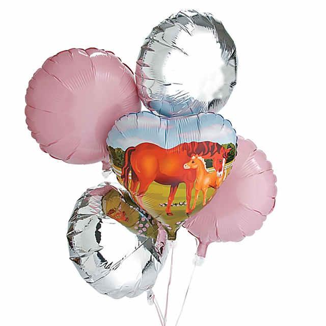 Mare & Foal Heart Mylar Balloon - Discontinued