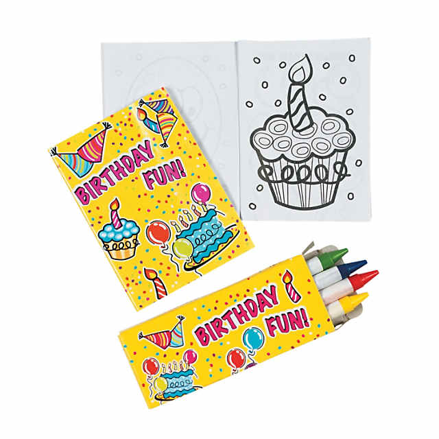 Mini Happy Birthday Coloring Sets