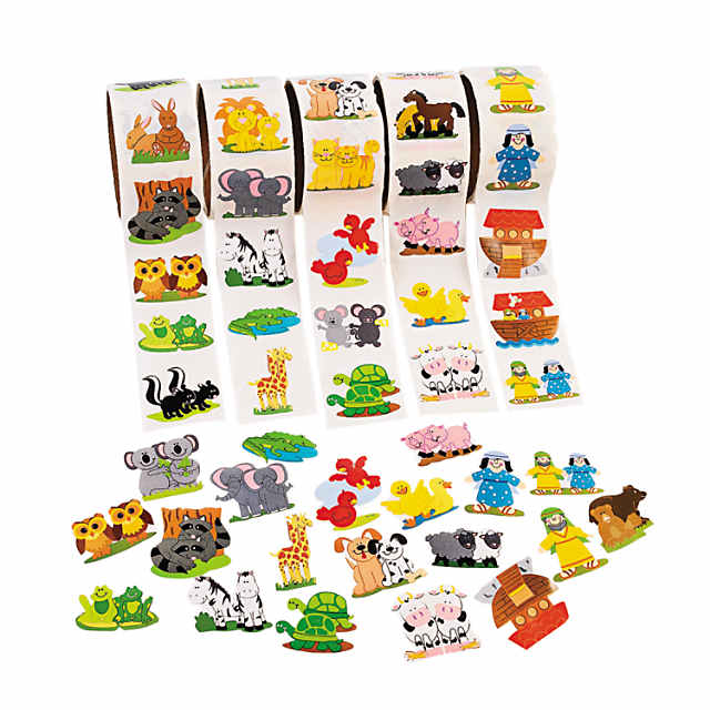 Noah's Ark Rolls of Stickers