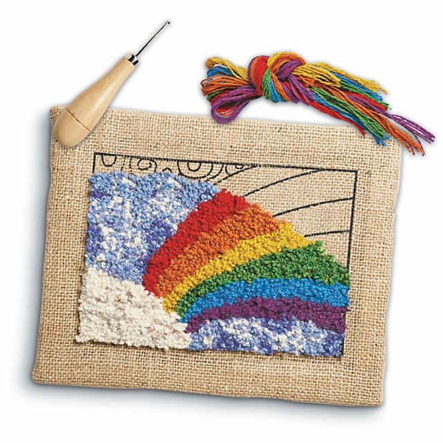 Rainbow Rug Hooking Kit Mindware