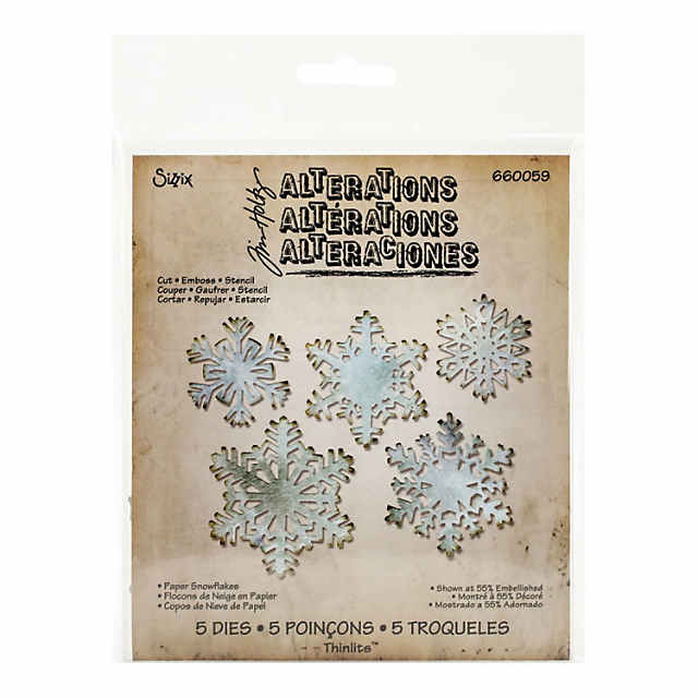 Sizzix Dies Tim Holtz-Paper Snowflakes