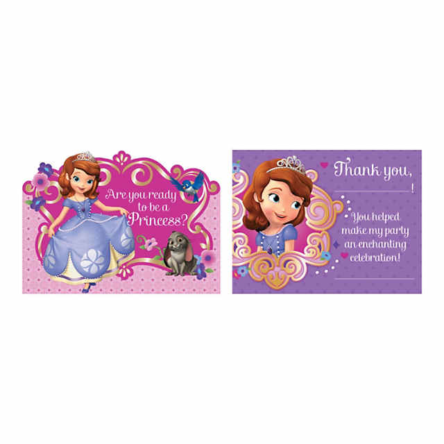 Sofia The First Invitations Thank You Cards