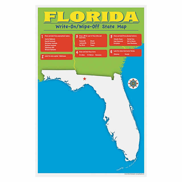 State Write-On Desk Mat - Florida