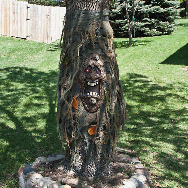 Tree Ghost With Light Up Eyes Halloween Decoration