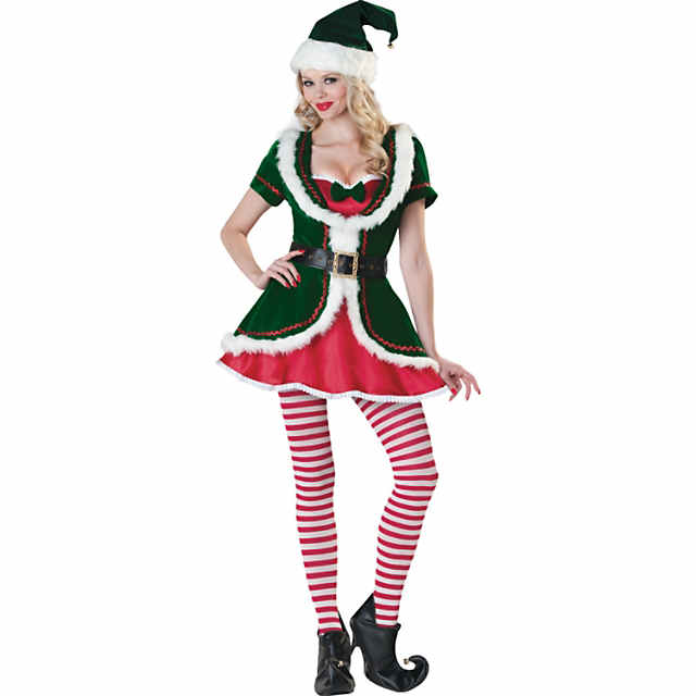 Christmas Elf Costume.Women S Christmas Holiday Honey Elf Costume