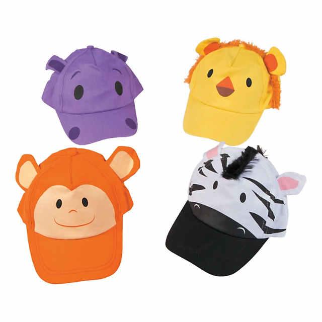 Zoo Animal Baseball Caps