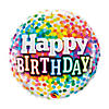 "Birthday Rainbow Confetti 18"" Mylar Balloon Image Thumbnail 1"